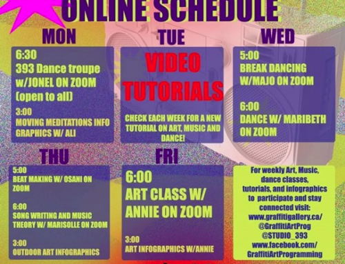 Free Online Classes in Dance, Art, and Music via Graffiti Art & Studio 393