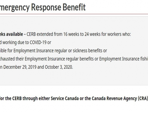 Canada Emergency Response Benefit (CERB) is Extended by 8 Weeks
