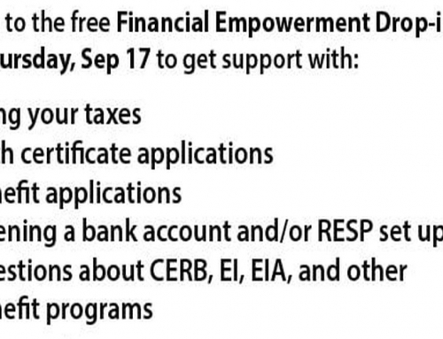 Free Financial Empowerment Drop-in Day