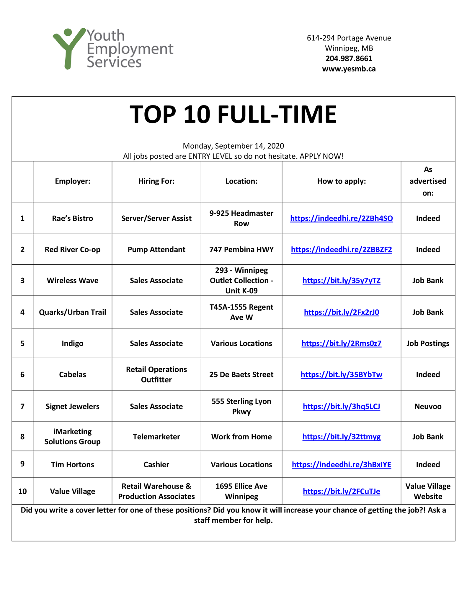 Jobs That Hire At 14 Part Time Near Me