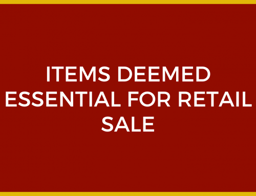 Items Deemed Essential for Retail Sale
